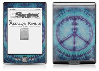 Tie Dye Peace Sign 107 - Decal Style Skin (fits 4th Gen Kindle with 6inch display and no keyboard)