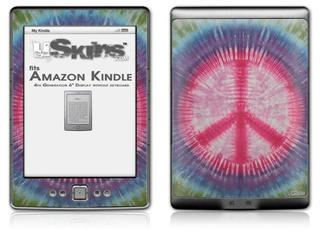 Tie Dye Peace Sign 108 - Decal Style Skin (fits 4th Gen Kindle with 6inch display and no keyboard)