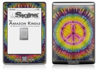 Tie Dye Peace Sign 109 - Decal Style Skin (fits 4th Gen Kindle with 6inch display and no keyboard)