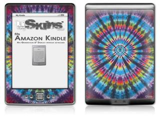 Tie Dye Swirl 101 - Decal Style Skin (fits 4th Gen Kindle with 6inch display and no keyboard)