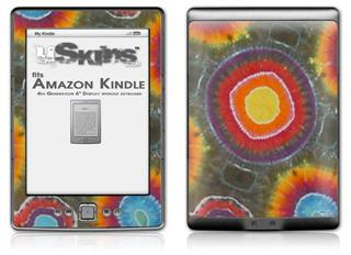 Tie Dye Circles 100 - Decal Style Skin (fits 4th Gen Kindle with 6inch display and no keyboard)