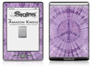 Tie Dye Peace Sign 112 - Decal Style Skin (fits 4th Gen Kindle with 6inch display and no keyboard)