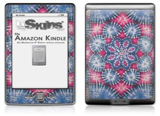 Tie Dye Star 102 - Decal Style Skin (fits 4th Gen Kindle with 6inch display and no keyboard)