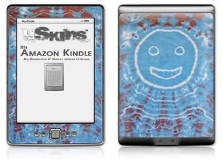 Tie Dye Happy 101 - Decal Style Skin (fits 4th Gen Kindle with 6inch display and no keyboard)