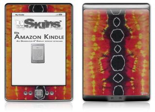 Tie Dye Spine 100 - Decal Style Skin (fits 4th Gen Kindle with 6inch display and no keyboard)
