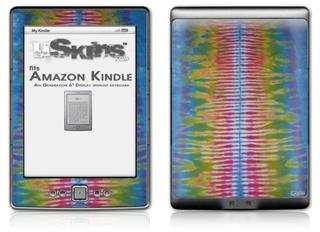 Tie Dye Spine 102 - Decal Style Skin (fits 4th Gen Kindle with 6inch display and no keyboard)