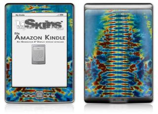 Tie Dye Spine 106 - Decal Style Skin (fits 4th Gen Kindle with 6inch display and no keyboard)
