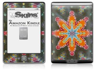 Tie Dye Star 103 - Decal Style Skin (fits 4th Gen Kindle with 6inch display and no keyboard)