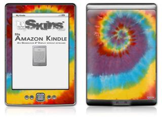 Tie Dye Swirl 108 - Decal Style Skin (fits 4th Gen Kindle with 6inch display and no keyboard)