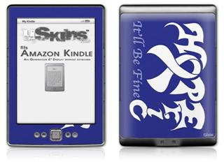 Hope Eric - Decal Style Skin (fits 4th Gen Kindle with 6inch display and no keyboard)