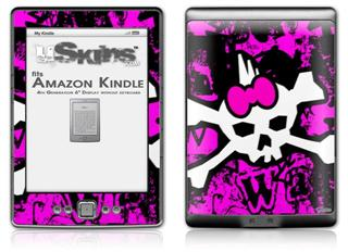 Punk Skull Princess - Decal Style Skin (fits 4th Gen Kindle with 6inch display and no keyboard)
