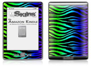 Rainbow Zebra - Decal Style Skin (fits 4th Gen Kindle with 6inch display and no keyboard)