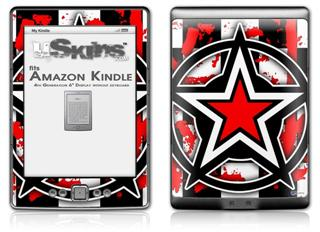 Star Checker Splatter - Decal Style Skin (fits 4th Gen Kindle with 6inch display and no keyboard)