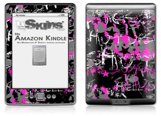 SceneKid Pink - Decal Style Skin (fits 4th Gen Kindle with 6inch display and no keyboard)