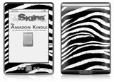 Zebra - Decal Style Skin (fits 4th Gen Kindle with 6inch display and no keyboard)