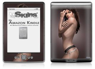 Sensuous Pin Up Girl - Decal Style Skin (fits 4th Gen Kindle with 6inch display and no keyboard)
