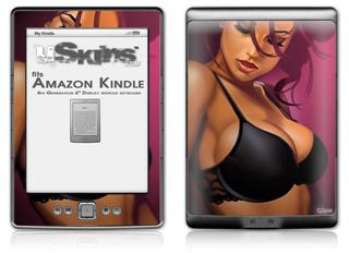 Violeta Pin Up Girl - Decal Style Skin (fits 4th Gen Kindle with 6inch display and no keyboard)