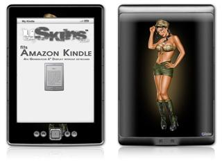 Army Pin Up Girl - Decal Style Skin (fits 4th Gen Kindle with 6inch display and no keyboard)