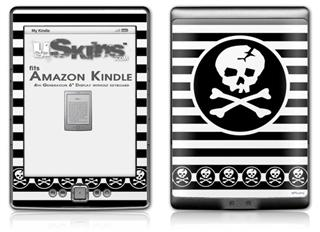 Skull Patch - Decal Style Skin (fits 4th Gen Kindle with 6inch display and no keyboard)