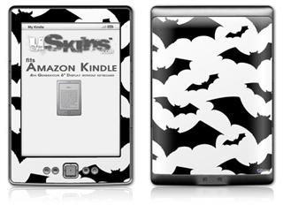 Deathrock Bats - Decal Style Skin (fits 4th Gen Kindle with 6inch display and no keyboard)