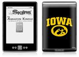 Iowa Hawkeyes Tigerhawk Oval 01 Gold on Black - Decal Style Skin (fits 4th Gen Kindle with 6inch display and no keyboard)