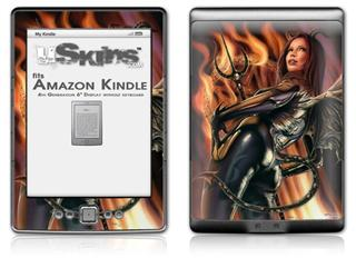 Devil Girl - Decal Style Skin (fits 4th Gen Kindle with 6inch display and no keyboard)