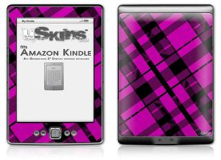 Pink Plaid - Decal Style Skin (fits 4th Gen Kindle with 6inch display and no keyboard)