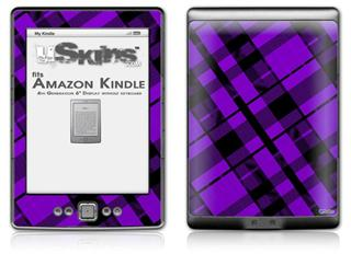 Purple Plaid - Decal Style Skin (fits 4th Gen Kindle with 6inch display and no keyboard)