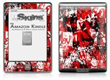 Red Graffiti - Decal Style Skin (fits 4th Gen Kindle with 6inch display and no keyboard)