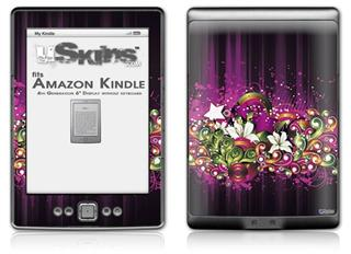 Grungy Flower Bouquet - Decal Style Skin (fits 4th Gen Kindle with 6inch display and no keyboard)