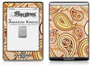 Paisley Vect 01 - Decal Style Skin (fits 4th Gen Kindle with 6inch display and no keyboard)