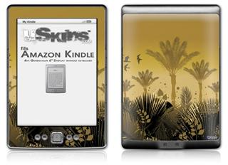 Summer Palm Trees - Decal Style Skin (fits 4th Gen Kindle with 6inch display and no keyboard)
