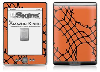 Ripped Fishnets Orange - Decal Style Skin (fits 4th Gen Kindle with 6inch display and no keyboard)