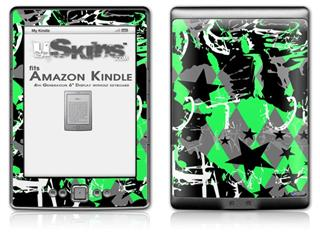 SceneKid Green - Decal Style Skin (fits 4th Gen Kindle with 6inch display and no keyboard)