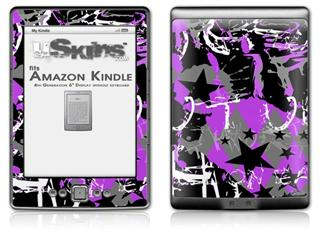 SceneKid Purple - Decal Style Skin (fits 4th Gen Kindle with 6inch display and no keyboard)