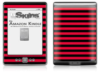 Stripes Red - Decal Style Skin (fits 4th Gen Kindle with 6inch display and no keyboard)