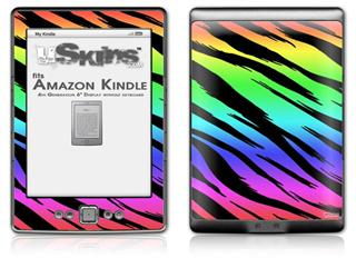 Tiger Rainbow - Decal Style Skin (fits 4th Gen Kindle with 6inch display and no keyboard)