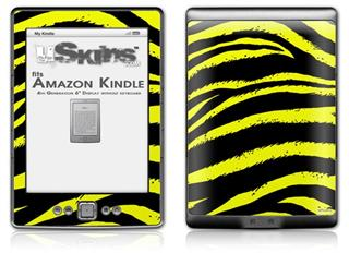 Zebra Yellow - Decal Style Skin (fits 4th Gen Kindle with 6inch display and no keyboard)