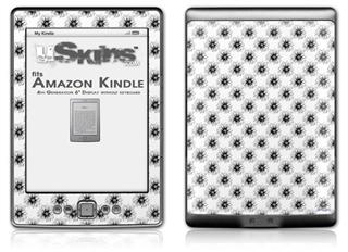 Kearas Daisies Black on White - Decal Style Skin (fits 4th Gen Kindle with 6inch display and no keyboard)
