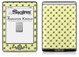 Kearas Daisies Yellow - Decal Style Skin (fits 4th Gen Kindle with 6inch display and no keyboard)