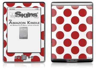 Kearas Polka Dots Brick - Decal Style Skin (fits 4th Gen Kindle with 6inch display and no keyboard)