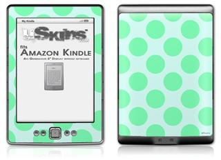 Kearas Polka Dots Green On Green - Decal Style Skin (fits 4th Gen Kindle with 6inch display and no keyboard)
