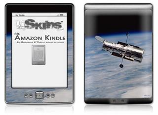 Hubble Images - Hubble Orbiting Earth - Decal Style Skin (fits 4th Gen Kindle with 6inch display and no keyboard)
