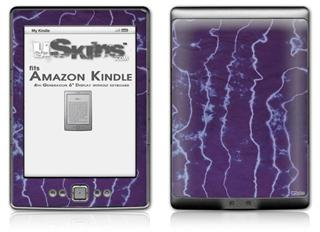 Tie Dye White Lightning - Decal Style Skin (fits 4th Gen Kindle with 6inch display and no keyboard)