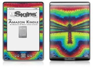 Tie Dye Dragonfly - Decal Style Skin (fits 4th Gen Kindle with 6inch display and no keyboard)