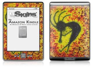 Tie Dye Kokopelli - Decal Style Skin (fits 4th Gen Kindle with 6inch display and no keyboard)