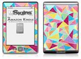 Brushed Geometric - Decal Style Skin (fits 4th Gen Kindle with 6inch display and no keyboard)