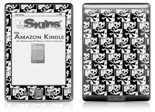 Skull Checker - Decal Style Skin (fits 4th Gen Kindle with 6inch display and no keyboard)