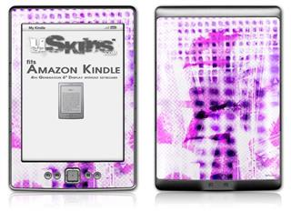 Electro Graffiti Purple - Decal Style Skin (fits 4th Gen Kindle with 6inch display and no keyboard)