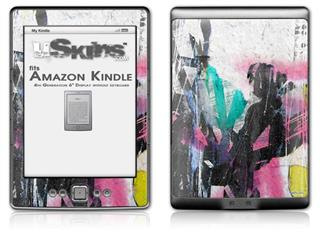 Graffiti Grunge - Decal Style Skin (fits 4th Gen Kindle with 6inch display and no keyboard)